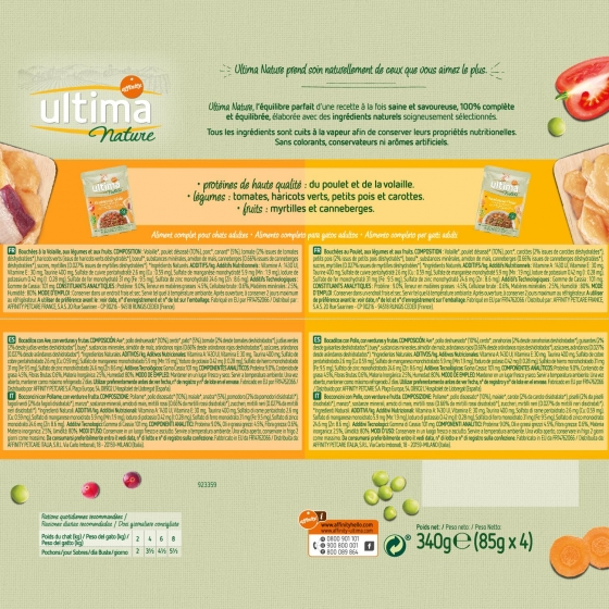 Ultima Nature Gato Wet Multipack Pouch Pollo y Aves 4 x 85 grs - 3