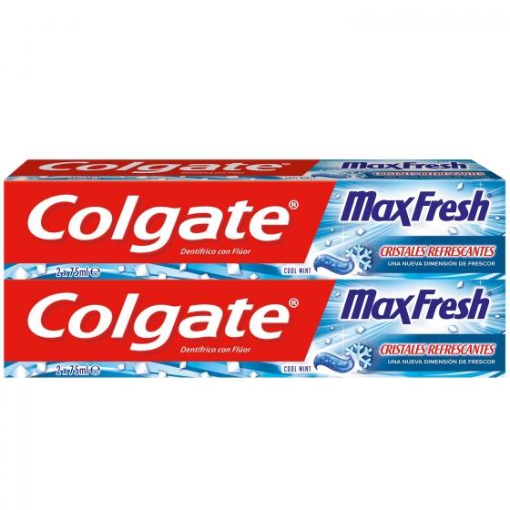Dentífrico Max Fresh Cool Mint Tubo Duplo Colgate pack de 2 unidades de 75 ml. - 1