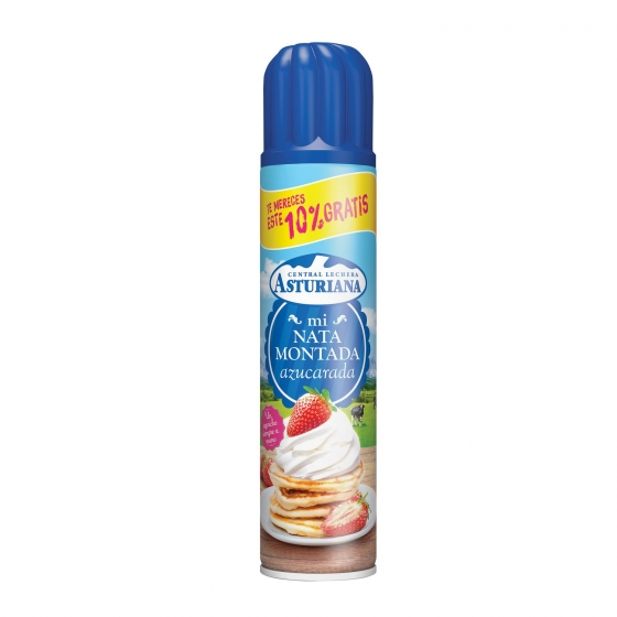 Nata montada azucarada Central Lechera Asturiana spray 250 ml.