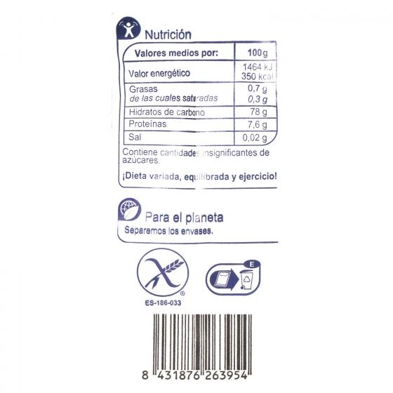Harina de arroz Carrefour sin gluten 500 g. - 1