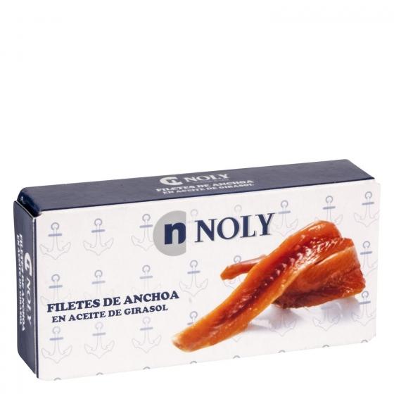 Filetes de anchoas en aceite de girasol Noly 45 g.