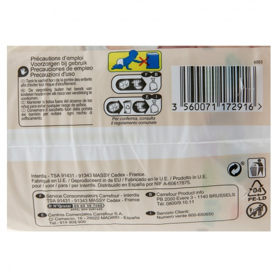 Pañales soft&protect Carrefour Baby T1 (2kg.-5kg.) 26 ud. - 4