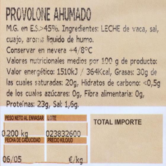 Queso Provolone D.O.P Valpadana ahumado - 3