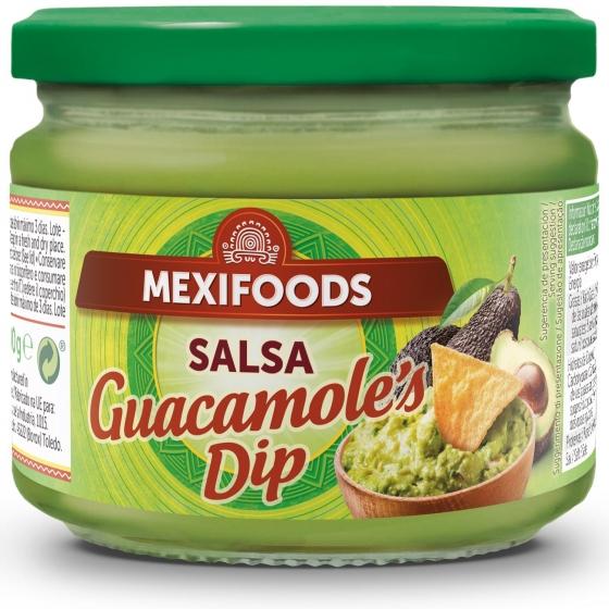 Salsa Guacamole's Dip Mexifoods tarro de 300 g.