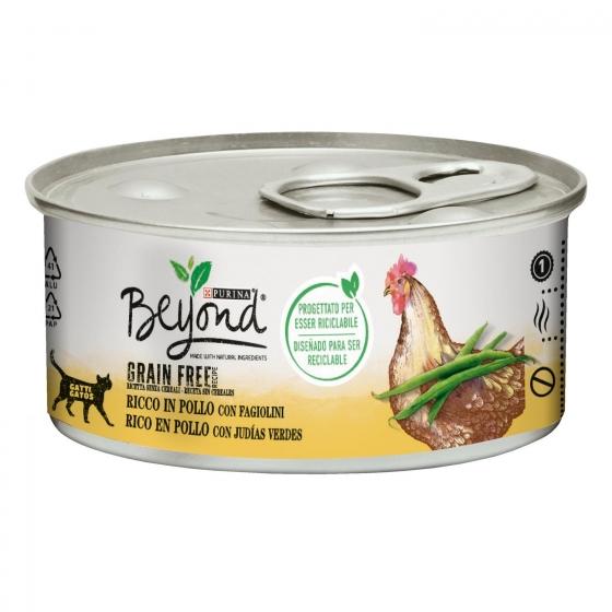 Alimento Gato Mousse de Pollo Beyond Grain Free Tarrina 85 grs