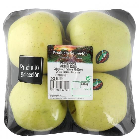 Manzana golden selecta Frutas  bandeja 4 ud 1 Kg aprox - 1