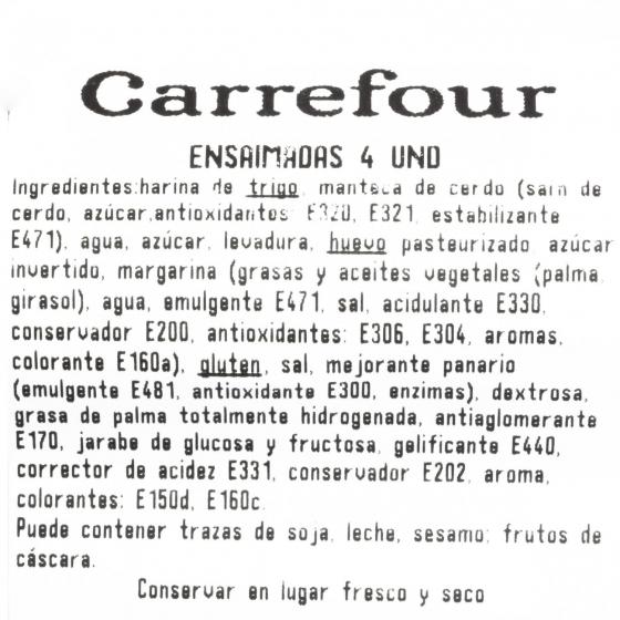Ensaimadas de azúcar Carrefour 4 ud - 3