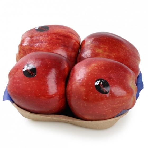 Manzana roja premium selecta Carrefour bandeja 4 ud 1 Kg aprox - 1