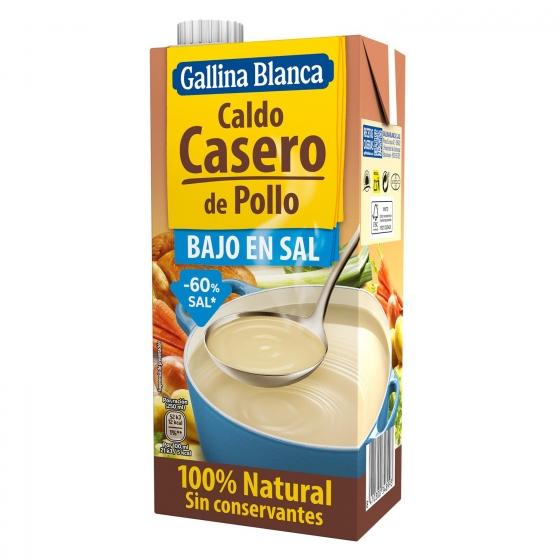 Caldo casero de pollo bajo en sal Gallina Blanca 1 l.