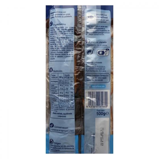 Bocaditos al cacao Carrefour 500 g. - 1