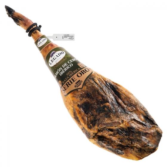 Jamón de cebo ibérico 50% raza ibérica Legado El Pozo sin gluten y sin lactosa pieza 7 Kg aprox