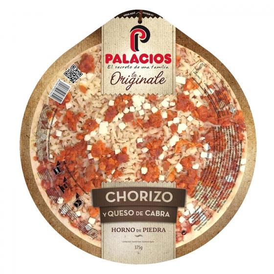 Pizza de chorizo y queso de cabra La Originale Palacios 375 g.