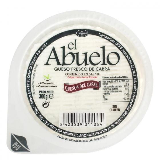 Queso fresco de cabra El Abuelo 300 g.