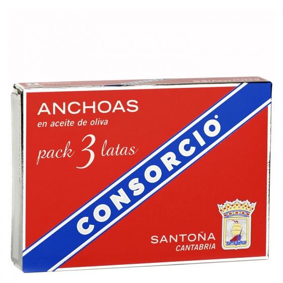 Anchoas en aceite de oliva Consorcio 87 g.