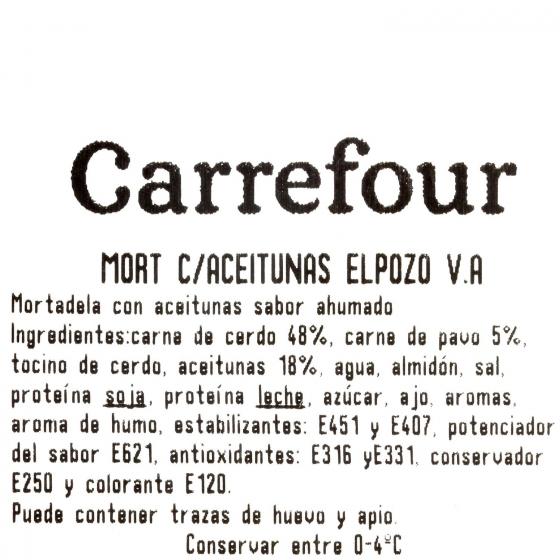 Mortadela con aceitunas ElPozo al corte 150 g aprox - 3