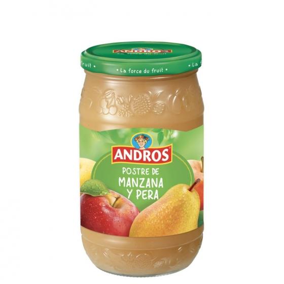 Compota de manzana y pera Andros 750 g.