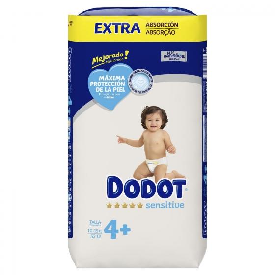 Pañales Dodot Sensitive extra absorción T4 (10kg-15kg.) 52 ud. - 3