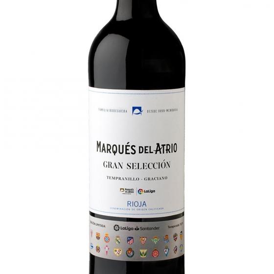 Vino D.O. Ca Rioja tinto tempranillo gran selección Marqués de Atrio 75 cl. - 1