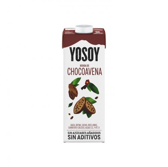 Bebida de avena y chocolate sin azúcar añadido YoSoy brik 1 l. - 3