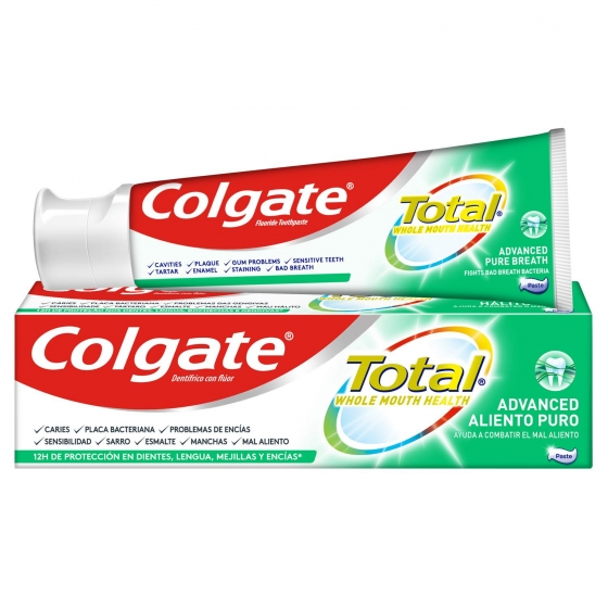 Dentífrico Total aliento puro Colgate 75 ml.