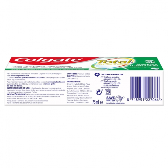 Dentífrico Total aliento puro Colgate 75 ml. - 5