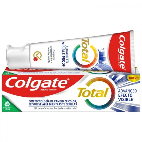 Dentífrico acción visible 12h de protección completa Colgate Total  75 ml.