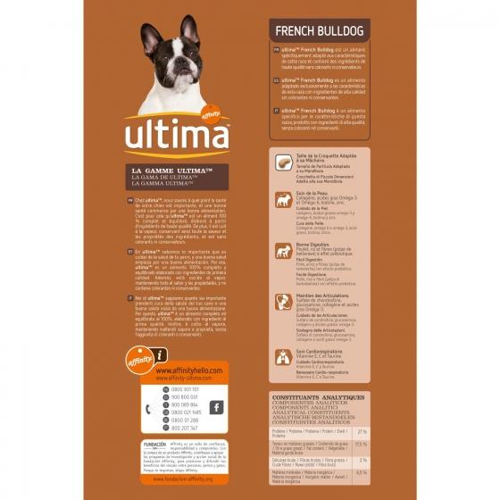 Pienso de pollo y arroz para perro Buldog Francés Ultima 1,5 Kg. - 3