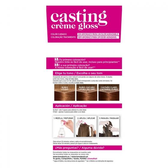 Tinte Créme Gloss nº 630 Rubio Claro Dorado L'Oréal Casting 1 ud. - 3