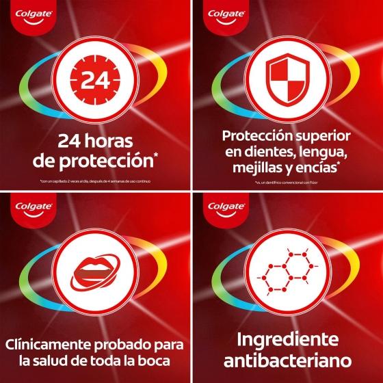 Dentífrico placa bacteriana 12h de protección completa Colgate Total 75 ml. - 5