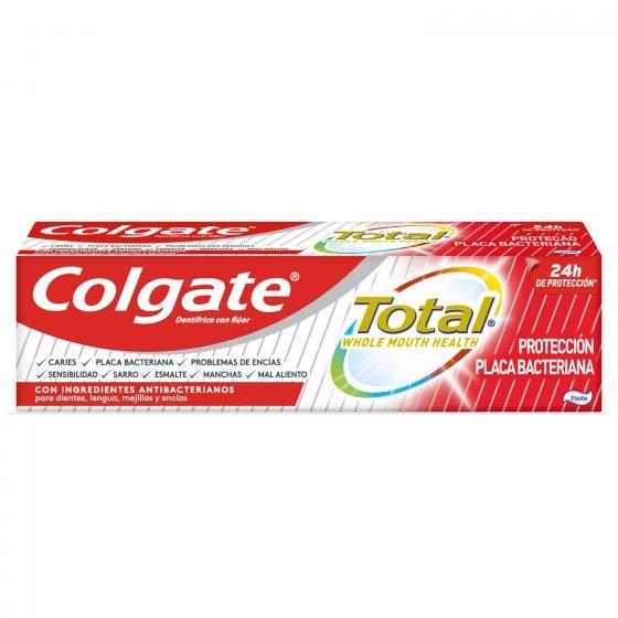 Dentífrico placa bacteriana 12h de protección completa Colgate Total 75 ml. - 6