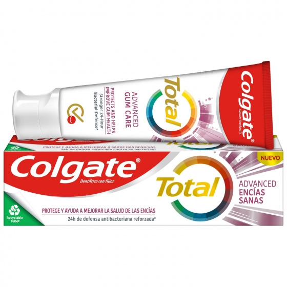 Dentífrico Total encías sanas Colgate 75 ml.