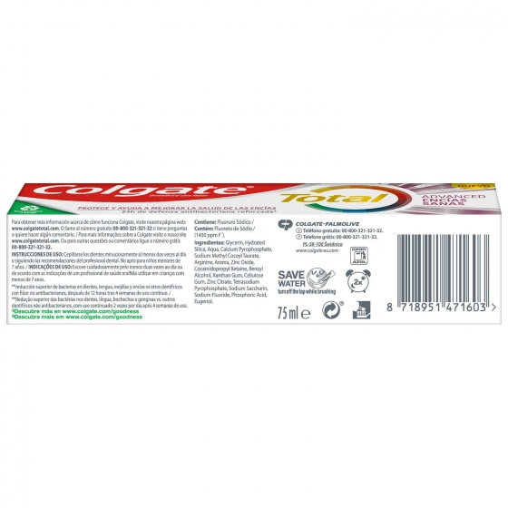 Dentífrico Total encías sanas Colgate 75 ml. - 4