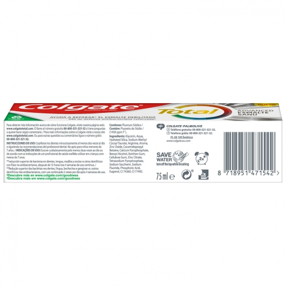 Dentífrico Total esmalte debilitado Colgate 75 ml. - 4