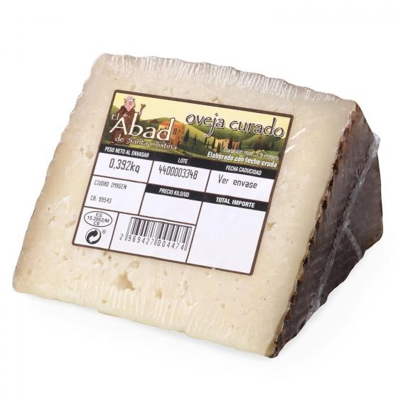 Queso curado de oveja graso El Abad de Santa Cristina cuña 1/8 375 g aprox