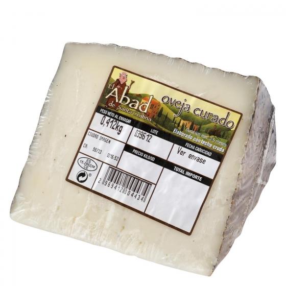 Queso curado de oveja graso El Abad de Santa Cristina cuña 1/8 375 g aprox - 3