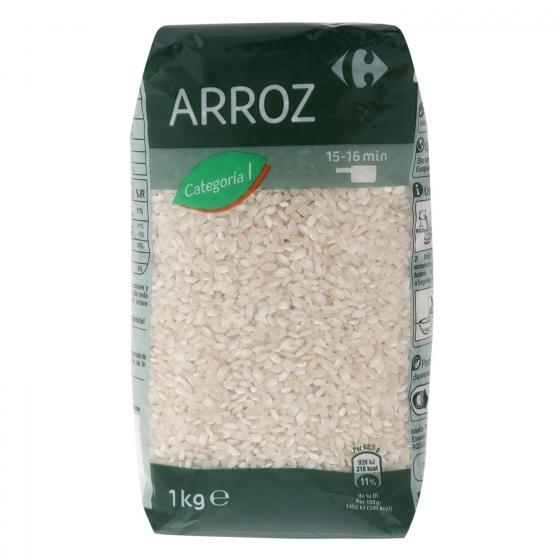 Arroz categoría extra Carrefour 1 kg.