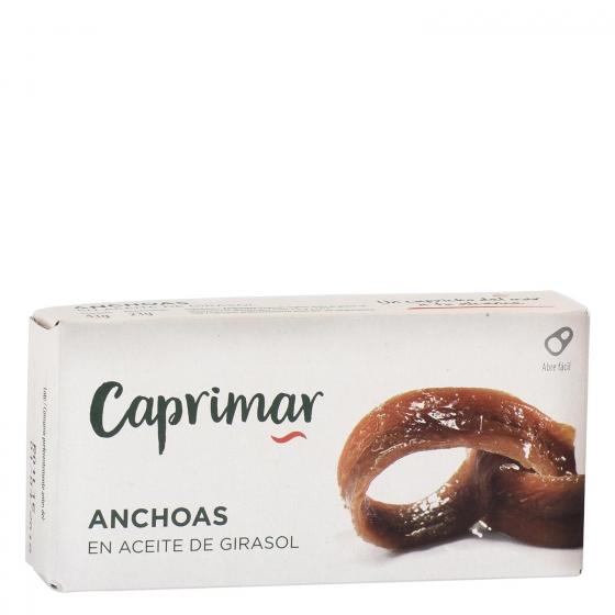 Anchoas en aceite de girasol Caprimar 23 g.