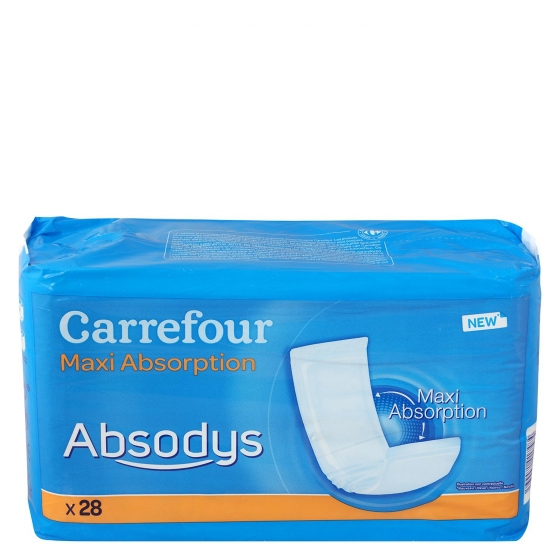 Compresas adulto Absodys Carrefour 28 ud.