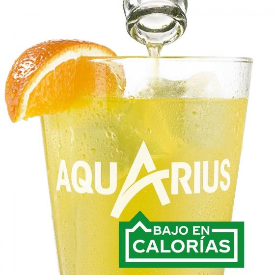 Bebida Isotónica Aquarius sabor naranja pack de 2 botellas de 1,5 l. - 1