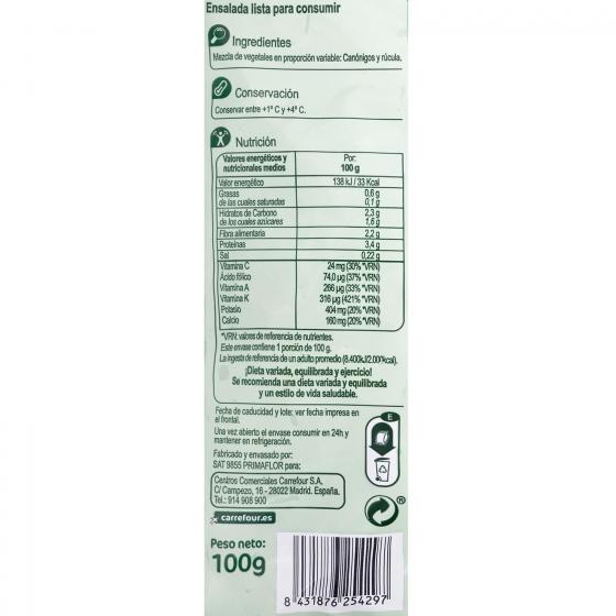 Canónigo + rúcula Carrefour bolsa 100 g - 3