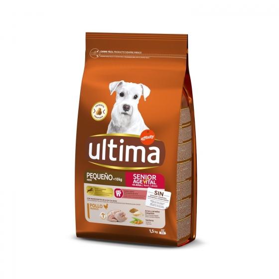 Pienso de pollo para perro adulto Mini Ultima 1,5 Kg.