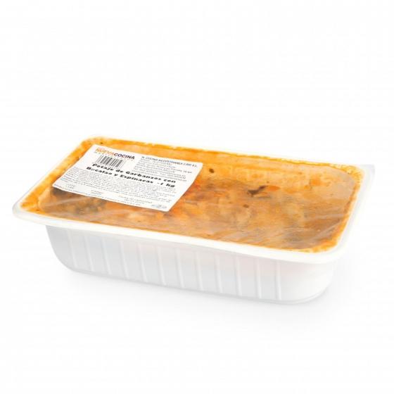 Potaje con bacalao y espinacas Nueva Cocina Mediterránea 1 kg aprox