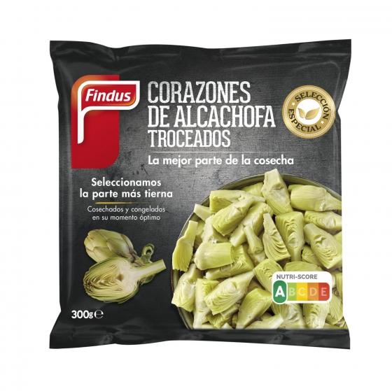 Corazones de alcachofa troceados Findus 300 g.