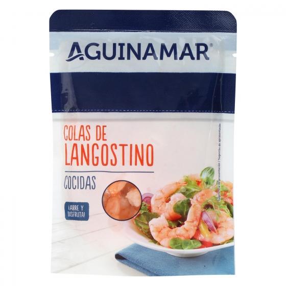 Colas de langostino cocidas Aguinamar 90 g - 1