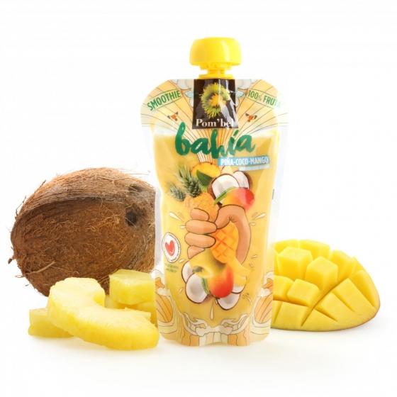 Smoothie de piña,coco y mango Pom'bel bolsita 210 ml.