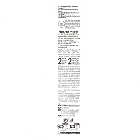 Cepillo dental blanqueador suave Carrefour 1 ud. - 1