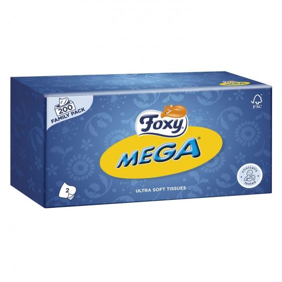 Tissues Mega 2 capas Foxy 200 ud.