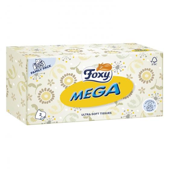 Tissues Mega 2 capas Foxy 200 ud. - 1
