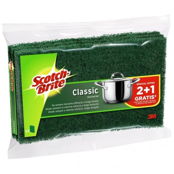 3 Estropajos Classic Scotch Brite - Verde - 1