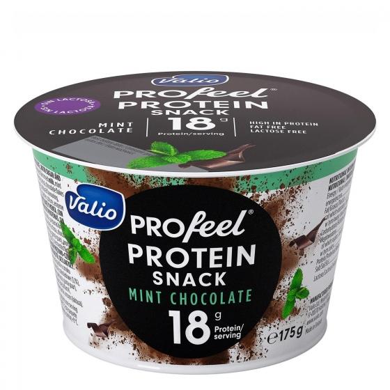 Queso fresco batido quark protein de menta y chocolate Valio sin lactosa 175 g.